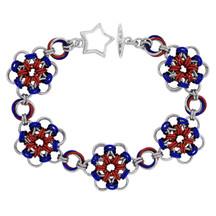 Americana - Japanese Flower Chainmaille  Bracelet Kit