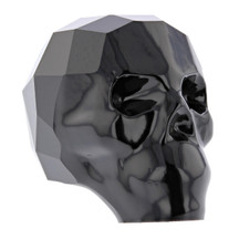 Jet 19mm Swarovski® Crystal Skull