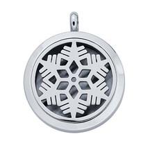 Stainless Steel Snowflake Aromatherapy Locket