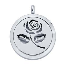 Stainless Steel Rose Aromatherapy Locket