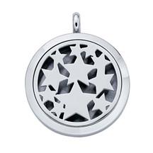 Stainless Steel Stars Aromatherapy Locket