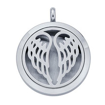 Stainless Steel Angel Wings Aromatherapy Locket