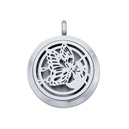 Stainless Steel Butterfly Aromatherapy Locket