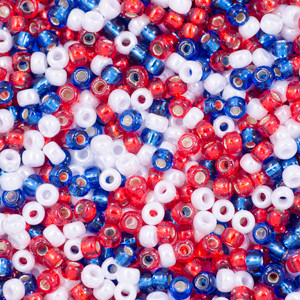Old Glory Seed Bead Mixes - Size 6
