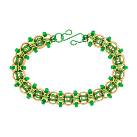 Blarney Stone Beaded Helm Chain Maille Bracelet Kit - By Emily Fiks