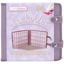 Craft Mates Lockables Large Organizer Case, Purple Ultrasuede