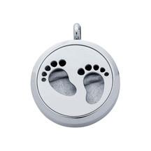 Stainless Steel Footprints Aromatherapy Locket