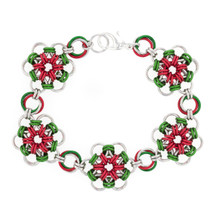 Mistletoe Japanese Flower Chainmaille Bracelet Kit