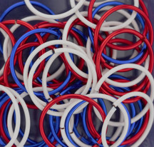 18 gauge - 13mm Enameled Copper Jump Ring Mixes - 1/2oz