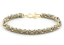 2-Color Byzantine Bracelet Kit - Bright Aluminum & Gold Enameled Copper