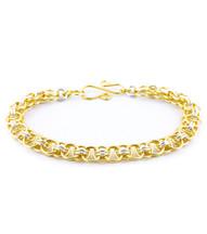 Helm Bracelet Kit - Gold and Silver Enameled Copper
