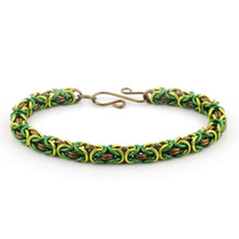 3-Color Enameled Copper Byzantine Bracelet Kit - Forest