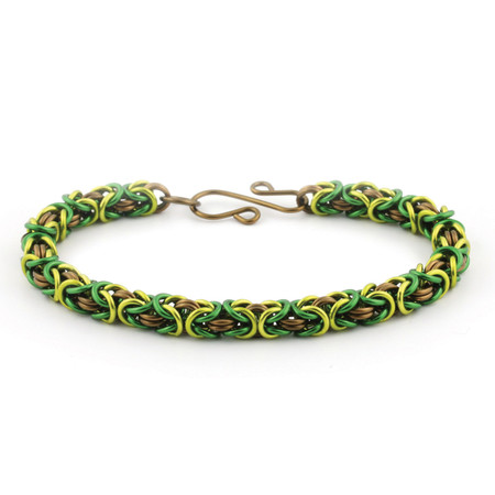 Forest 3 Color Byzantine Chain Maille Bracelet Kit