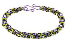 3-Color Enameled Copper Byzantine Bracelet Kit - Fields of Heather