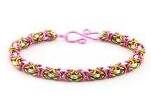 3-Color Enameled Copper Byzantine Bracelet Kit - Peony