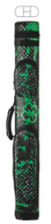 McDermott 2x2 Hard Vinyl Pool/Billiard Cue Case - Green Grunge Clover on Black
