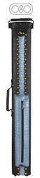McDermott 2x2 Hard Alligator-Embossed Vinyl Pool/Billiard Cue Case Black & Blue