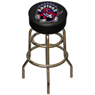 NBA Toronto Raptors Chrome Metal Bar Stool with Swivel Seat Game Room Barstool