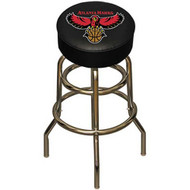 NBA Atlanta Hawks Chrome Metal Bar Stool with Swivel Seat Game Room Barstool