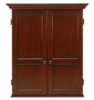 HJ Scott Windsor Dartboard Dart Board Cabinet - Old World Mahogany Finish