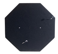 HJ Scott Octagon Carpeted Wall Mounted Dartboard Backboard - Black