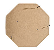 HJ Scott Octagon Carpeted Wall Mounted Dartboard Backboard - Tan