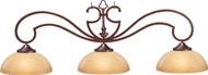 HJ Scott Wrought Iron Oil Rubbed Bronze Finish Billiard Pool Table Light