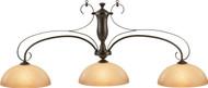 HJ Scott Wrought Iron Oil Rubbed Bronze/Glass Shade Billiard Pool Table Light