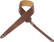 "Levy's M60JR 2"" Genuine Leather Youth/Kids Ukulele/Guitar Strap - Brown"