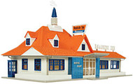 Atlas HO Scale Model Railroad Building Kit Roadside Restaurant/Diner