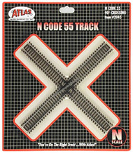 Atlas N Scale Code 55 90-Degree Crossing Model Train Track