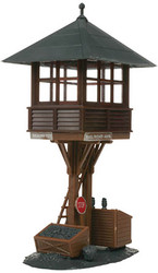 Atlas HO Scale Model Railroad Building Kit Elevated Gate/Switch Tower