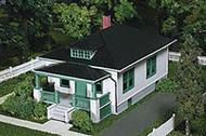 Atlas HO Scale Model Railroad Building Kit Barb's Bungalow Home/House