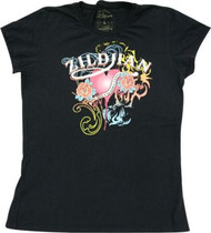Zildjian Cymbals Women's Black Tattoo/Tribal Tee T-Shir
