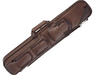 Lucasi LC5 4x8 4B8S Brown Leatherette Soft Pool Cue Case with Large Pockets