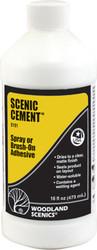 Woodland Scenics Model Railroad Landscape Scenic Cement (Glue) 16oz. Bottle