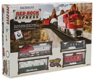 Bachmann HO Scale Red Rocks Train Set (Locomotive/Cars/Track)