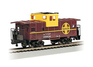 Bachmann HO Scale 36ft WideVision Caboose Atchison Topeka & Santa Fe/ATSF