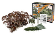 Woodland Scenics Forest Canopy Kit (Bushes, Trees, and Underbrush) Medium Green