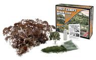 Woodland Scenics Forest Canopy Kit (Bushes, Trees, and Underbrush) Medium Green