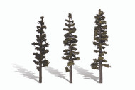 "Woodland Scenics Classic Trees Ready Made Standing Timber 6"" to 7"" Tall 3-Pack"