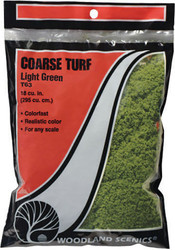 Woodland Scenics Model Railroad Landscape Coarse Turf Light Green (Small Bag)