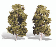 """Woodland Scenics Classic Trees Ready Made Waters Edge 8"""" to 9"""" Tall 2-Pack"""