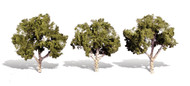 "Woodland Scenics Classic Trees Ready Made Waters Edge 4"" to 5"" Tall 3-Pack"