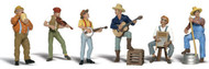 Woodland Scenics O Scale Scenic Accents Figures/People Set Jug Band