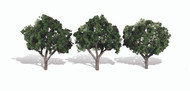 "Woodland Scenics Classic Trees Ready Made Cool Shade 3"" to 4"" Tall 3-Pack"