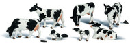 Woodland Scenics N Scale Scenic Accents Figures/Animal Set Holstein Cows (11)