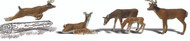 Woodland Scenics O Scale Scenic Accents Figures/Animal Set White-Tail Deer (6)