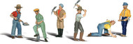 Woodland Scenics O Scale Scenic Accents Figures/People Set Track Workers (6)