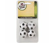 Fat Cat Black & White Soccer Ball Style Foosballs (Pack of 4)